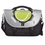 tenis a través de la hoja de metal bolsas para portátil