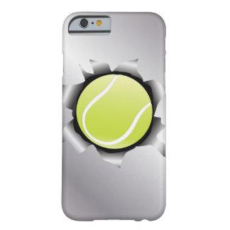 tenis a través de la hoja de metal funda para iPhone 6 barely there