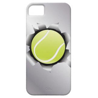 tenis a través de la hoja de metal funda para iPhone SE/5/5s