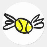 tenis-alas pegatina redonda