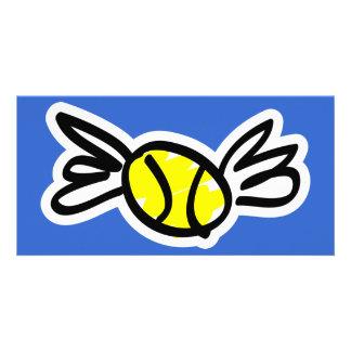 tenis-alas tarjetas con fotos personalizadas