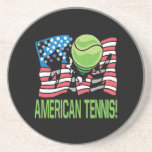 Tenis americano posavasos cerveza