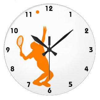 Tenis anaranjado y blanco relojes