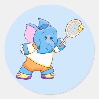Tenis azul del elefante de Lil Etiqueta Redonda