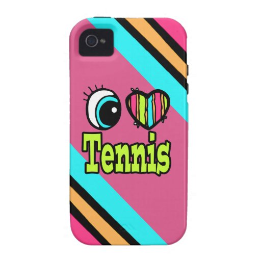 Tenis brillante del amor del corazón I del ojo iPhone 4 Fundas