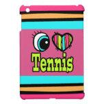 Tenis brillante del amor del corazón I del ojo iPad Mini Cobertura