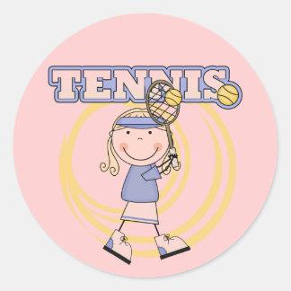 TENIS - camisetas y regalos rubios del chica Etiqueta Redonda