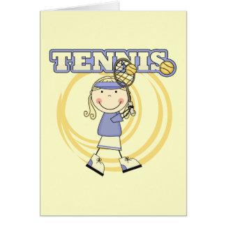 TENIS - camisetas y regalos rubios del chica Tarjeta De Felicitación