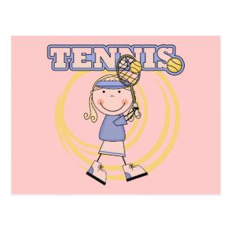 TENIS - camisetas y regalos rubios del chica Tarjeta Postal