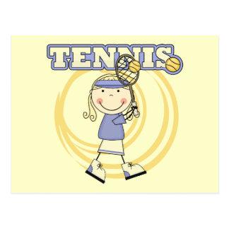 TENIS - camisetas y regalos rubios del chica Tarjetas Postales