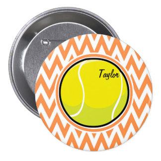 Tenis; Chevron anaranjado y blanco