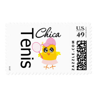 Tenis Chica Postage Stamp
