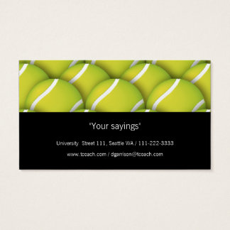 Tenis Coach | Sport Business Card