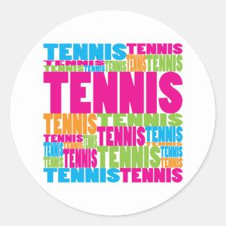 Tenis colorido pegatinas