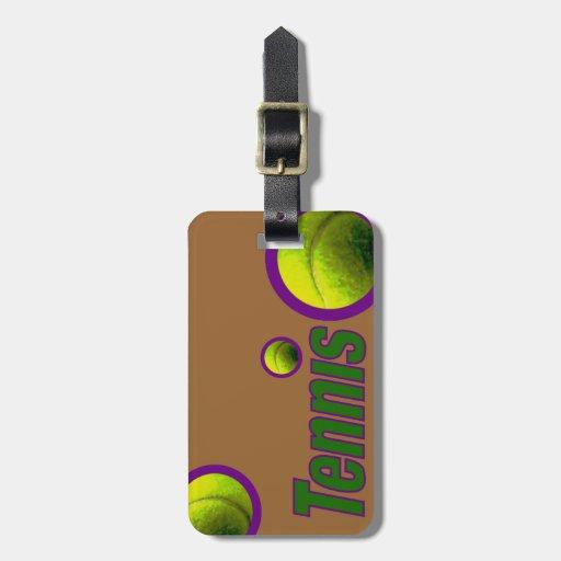 Tenis con la bola etiquetas para maletas