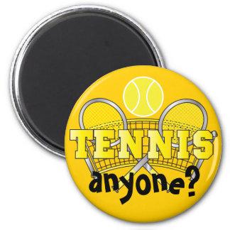 ¿Tenis cualquier persona del amarillo el |? Imán Redondo 5 Cm