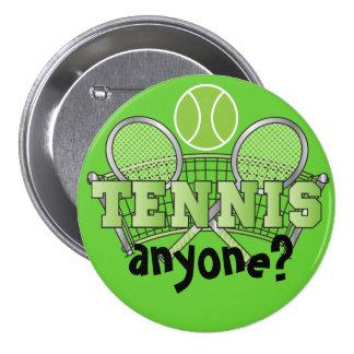 ¿Tenis cualquier persona? verde del   Pin Redondo De 3 Pulgadas