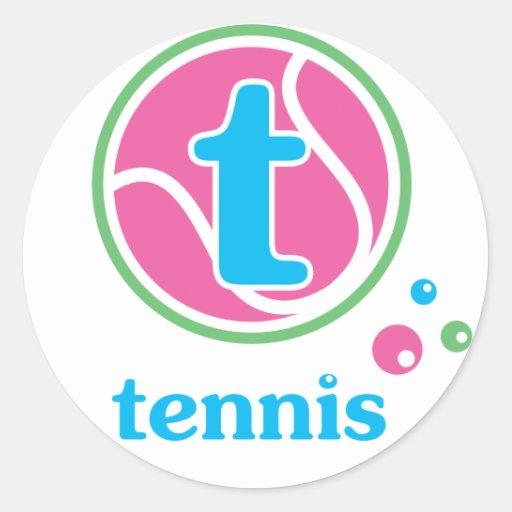 Tenis de Allaire Pegatina Redonda