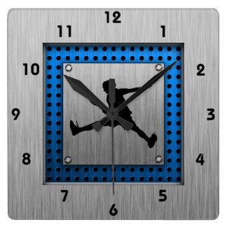 Tenis de aluminio cepillado de la mirada reloj cuadrado