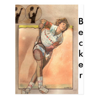 Tenis de Becker Postales