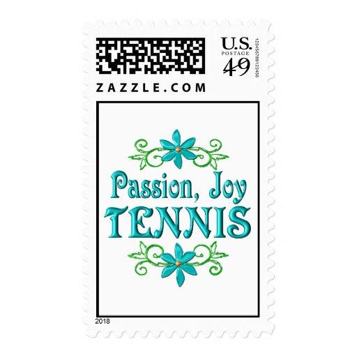 Tenis de la alegría de la pasión franqueo