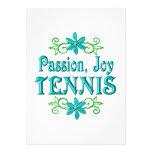 Tenis de la alegría de la pasión comunicados personales