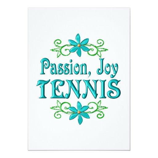 """Tenis de la alegría de la pasión invitación 5"""" x 7"""""""