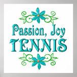 Tenis de la alegría de la pasión posters