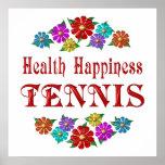 Tenis de la felicidad de la salud posters