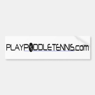 Tenis de la paleta del juego etiqueta de parachoque