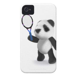 tenis de la panda del bebé 3d iPhone 4 Case-Mate coberturas