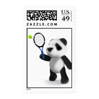 tenis de la panda del bebé 3d sello