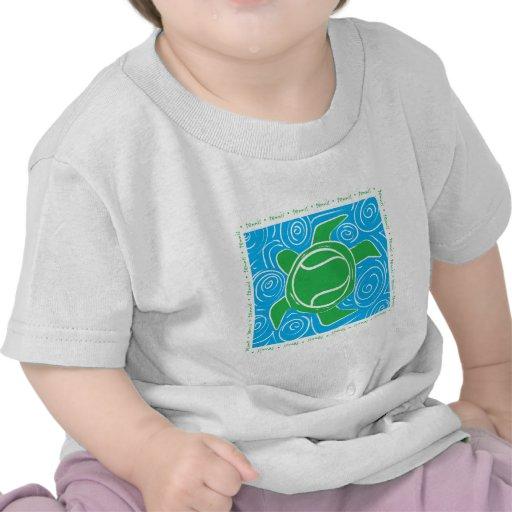 Tenis de la playa de la tortuga camiseta