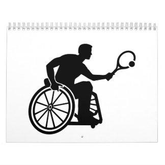 Tenis de la silla de ruedas calendario