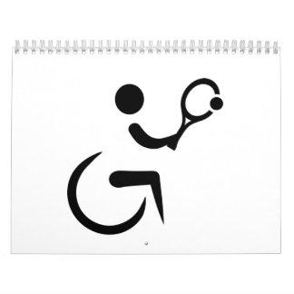 Tenis de la silla de ruedas calendarios de pared
