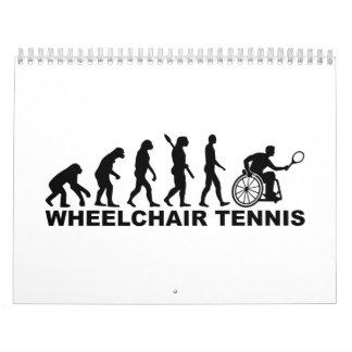 Tenis de la silla de ruedas de la evolución calendarios