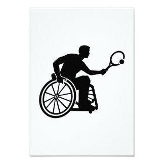 """Tenis de la silla de ruedas invitación 3.5"""" x 5"""""""