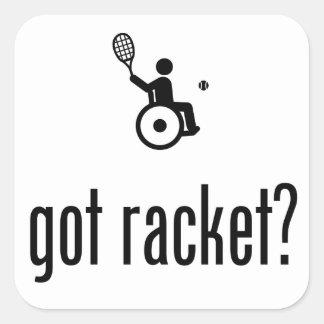 Tenis de la silla de ruedas pegatina cuadrada