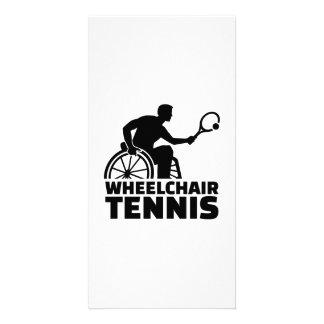 Tenis de la silla de ruedas tarjeta personal con foto