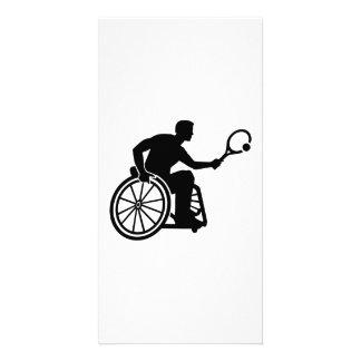 Tenis de la silla de ruedas tarjetas fotográficas