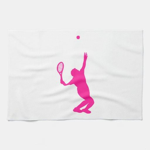 Tenis de las rosas fuertes toalla de mano