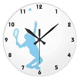 Tenis de los azules cielos reloj redondo grande