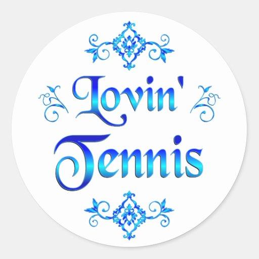 Tenis de Lovin Pegatina Redonda