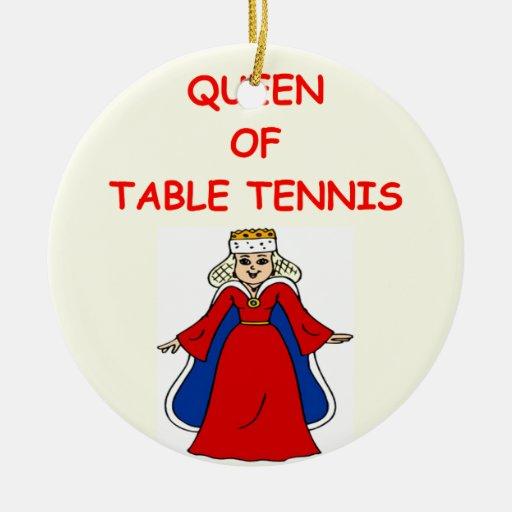 tenis de mesa adorno