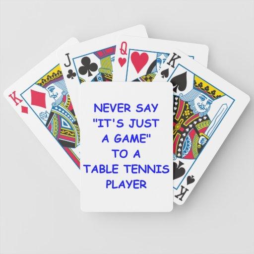 tenis de mesa baraja