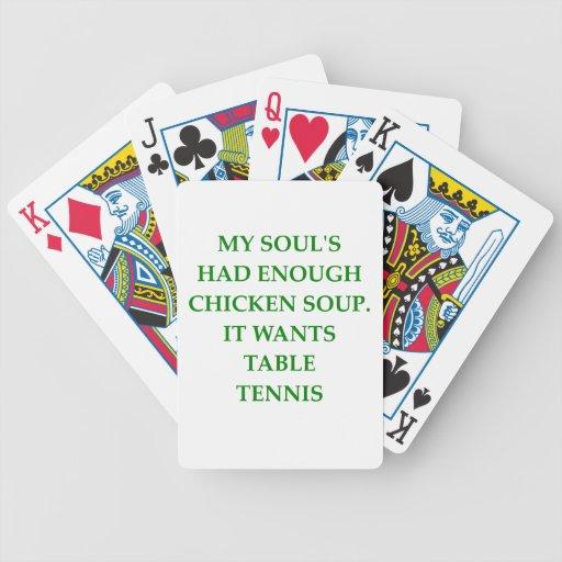tenis de mesa baraja de cartas
