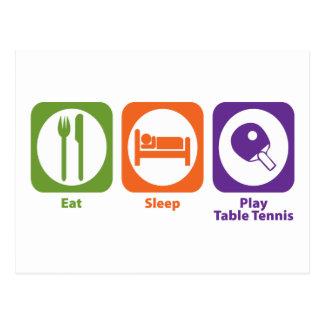 Tenis de mesa de Eat Sleep Play Tarjeta Postal