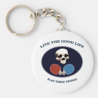 Tenis de mesa de la buena vida del cráneo del pira llaveros personalizados