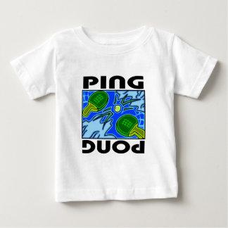 Tenis de mesa de las paletas y de la bola del tshirts