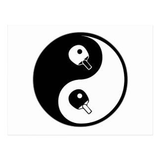 Tenis de mesa de Yin Yang Postales